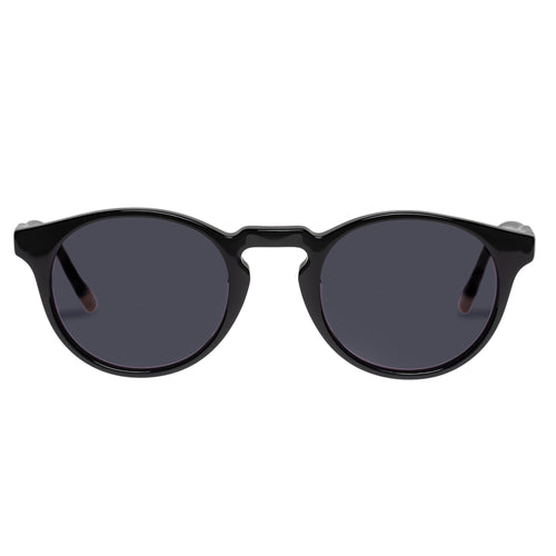 Le Specs Uni-Sex Sand Man Black Round Prescription Ready Sunglasses