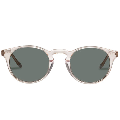 Le Specs Uni-Sex Sand Man Beige Round Prescription Ready Sunglassess Sand Man Beige Lsh2087194