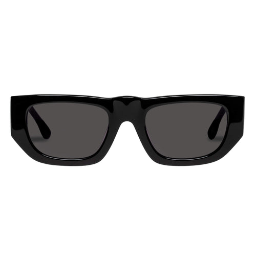 Le Specs Uni-Sex Le Trap Black Modern Rectangle Sunglasses