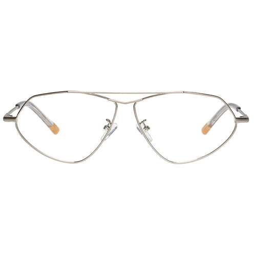 Le Specs Psyche Uni-Sex Silver Aviator Optical Frames