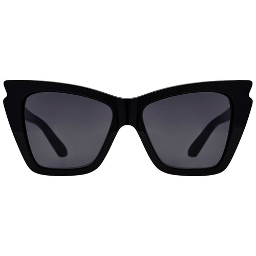 Le Specs Rapture Womens Black Cat-Eye Sunglasses