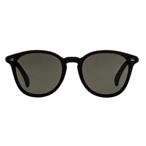 Le Specs Bandwagon Mens Black Round Sunglasses