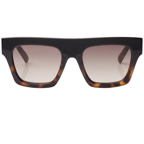 Le Specs Subdimension Mens Black Modern Rectangle Sunglasses