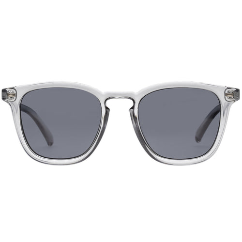 Le Specs No Biggie Mens Grey Modern Rectangle Sunglasses