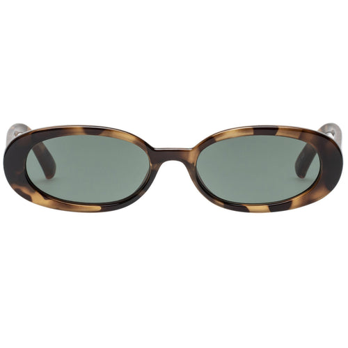 Le Specs Outta Love Womens Tort Oval Sunglasses