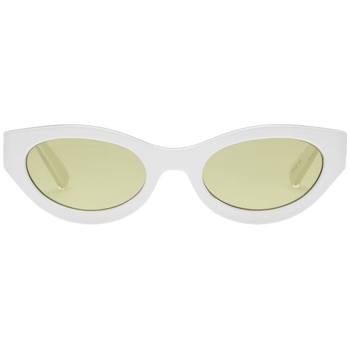 Le Specs Body Bumpin Uni-Sex White Wrap Fashion Sunglasses