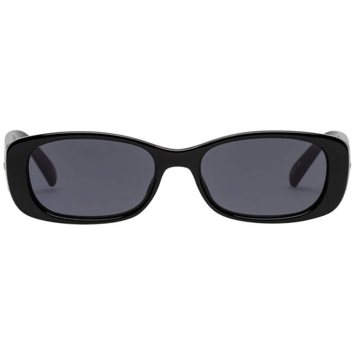Le Specs Unreal! Womens Black Rectangle Sunglasses