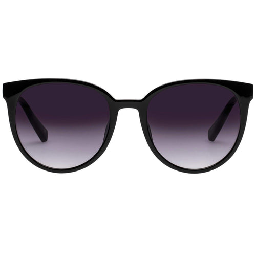 Le Specs Armada Womens Black Round Sunglasses