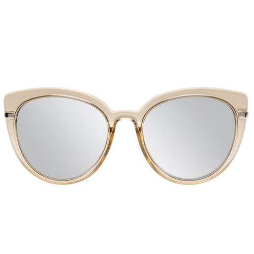 Le Specs Female Promiscuous  Grey Cat-Eye Sunglasses