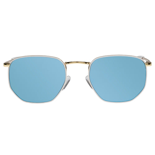 Le Specs Uni-Sex Alto  Gold Octagon Sunglasses