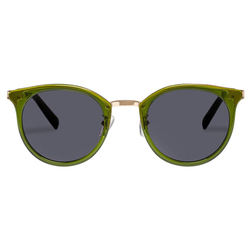 Le Specs Uni-Sex No Lurking  Khaki Round Sunglasses