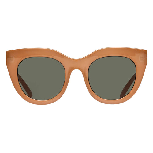 Le Specs Female Air Heart Tan Cat-Eye Sunglasses