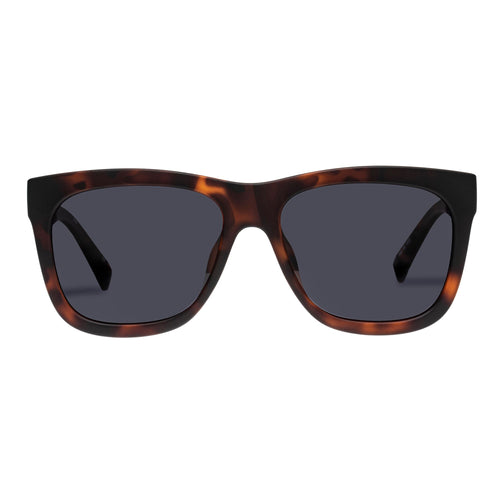 Le Specs Male High Hopes Tort Modern Rectangle Sunglasses