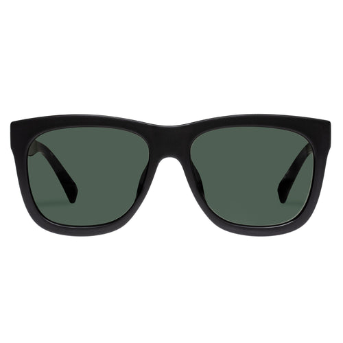 Le Specs Male High Hopes Black Modern Rectangle Sunglasses