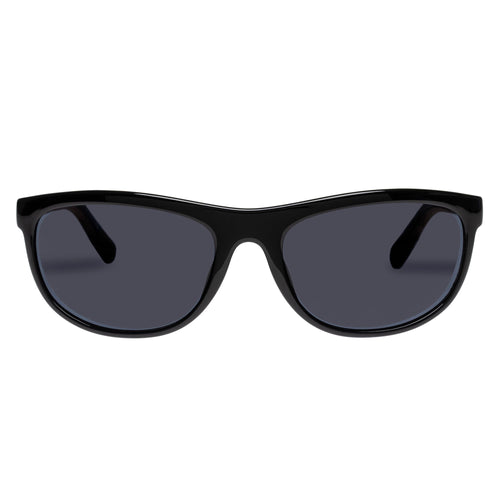 Le Specs Uni-Sex Pirata Black Wrap Sport Sunglasses