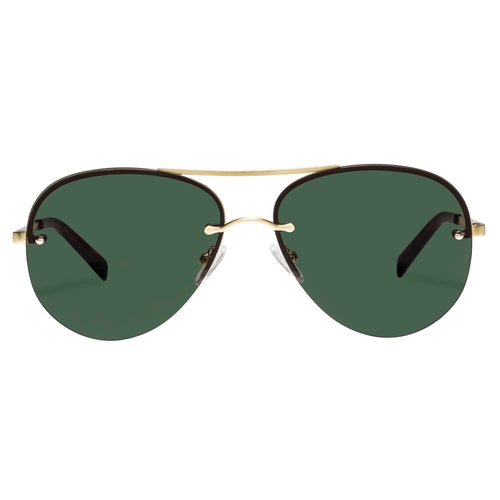 Le Specs Uni-Sex Panarea Gold Aviator Sunglasses
