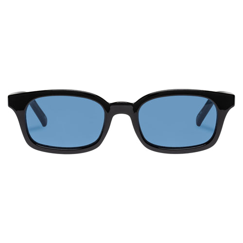 Le Specs Uni-Sex Carmito Black Modern Rectangle Sunglasses