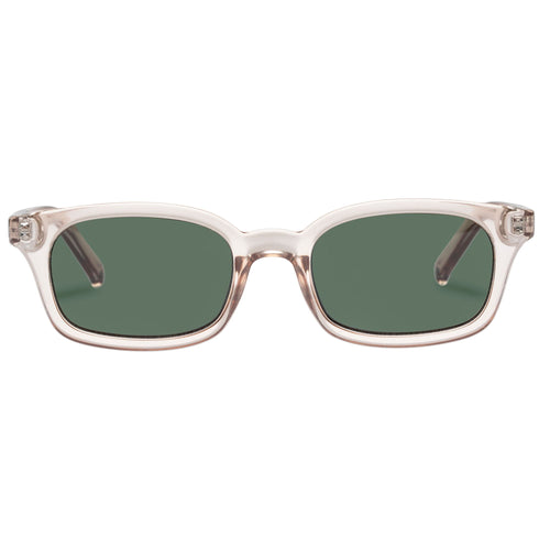 Le Specs Uni-Sex Carmito Grey Modern Rectangle Sunglasses