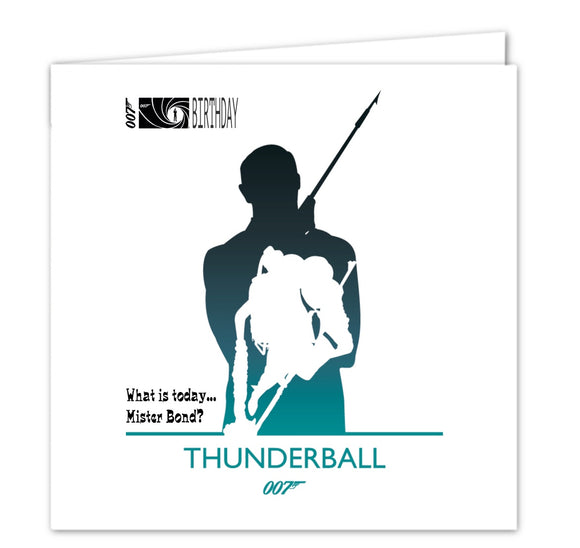007 James Bond Birthday Card - Thunderball