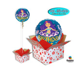 "Inflated 18"" Mermaid Birthday Foil Balloon in a Box"