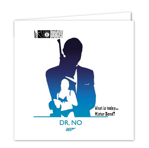 007 James Bond Birthday Card - Dr No