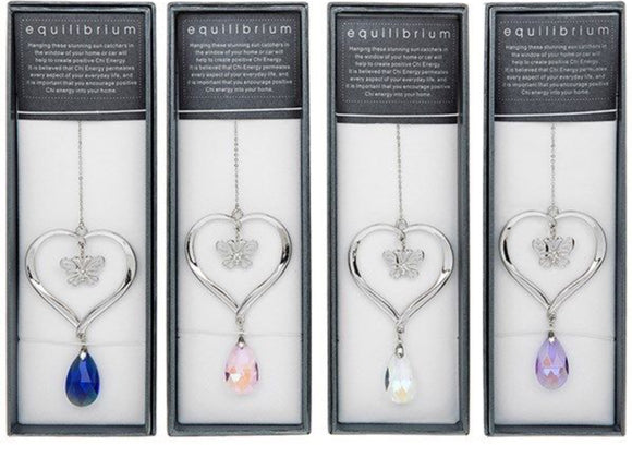 Equilibrium Butterfly inside Heart Suncatcher by Equilibrium Technologies
