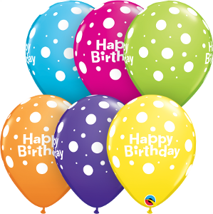 Happy Birthday Qualatex latex Balloon 6 pack
