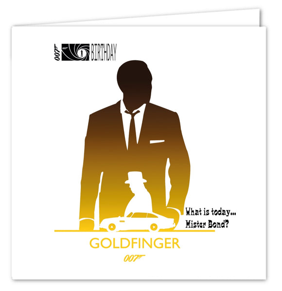 007 James Bond Birthday Card - Goldfinger