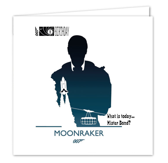 007 James Bond Birthday Card - Moonraker