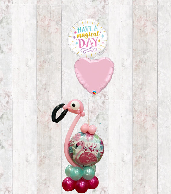 Designer Fun Flamingo Foil Bouquet in a Box - Helium Filled - Can be personalised