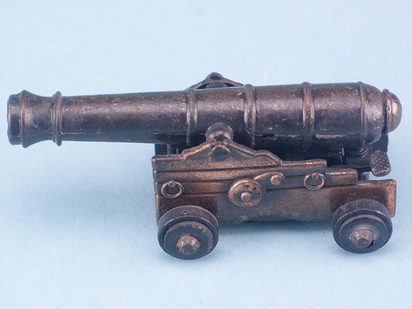 Antique Finished Die Cast Miniature Naval Cannon Pencil Sharpener