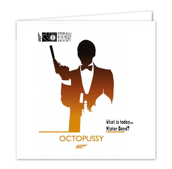 007 James Bond Birthday Card - Octopussy