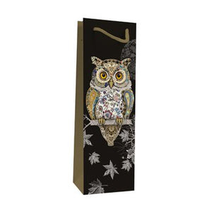 Owl Bottle Gift Bag