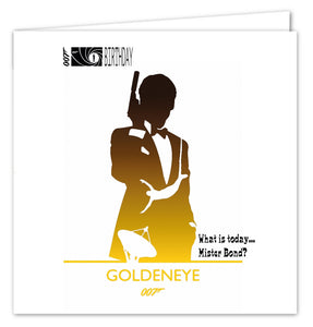 007 James Bond Birthday Card - Goldeneye