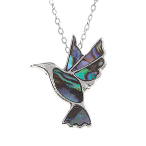 Paua Shell Humming Bird Necklace