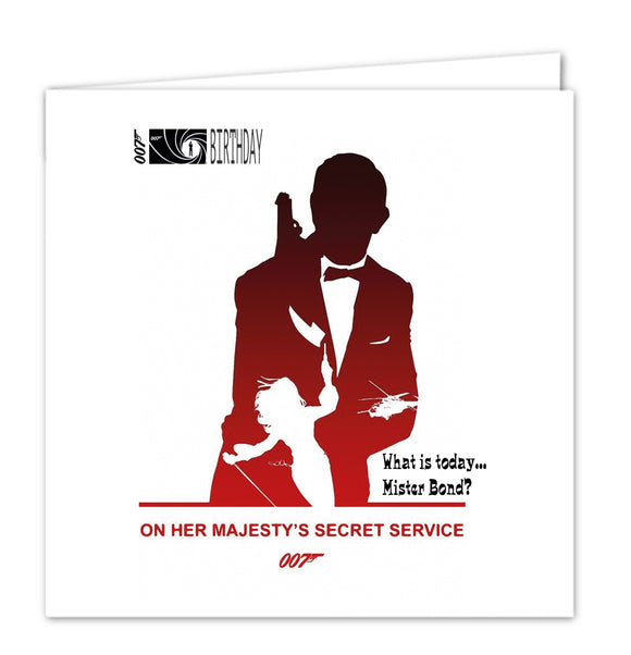 007 James Bond Birthday Card - On Her Majesty's Secret Service