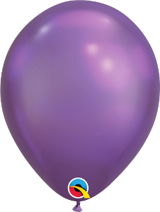 Chrome Qualatex latex Balloon 6 pack - Experience the difference of solid shine!