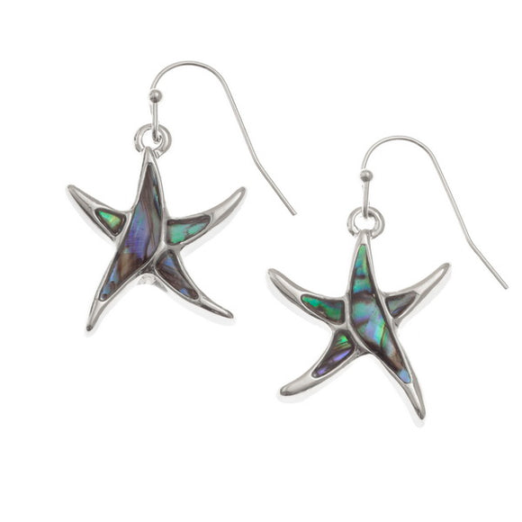 Paua StarfishHook Earrings