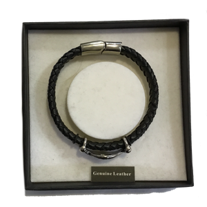 Equilibrium Men Flat Leather Bracelet