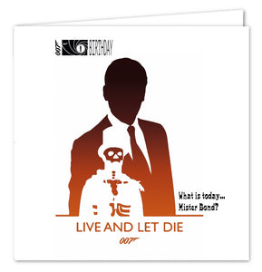 007 James Bond Birthday Card - Live And Let Die