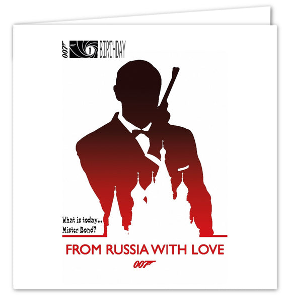 007 James Bond Birthday Card - From Russia With Love