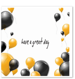 Happy Birthday - Balloons (Black and Gold)