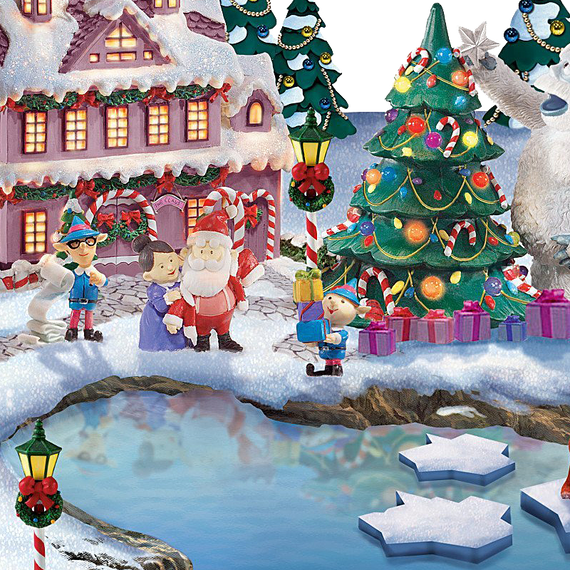 rudolph the red nosed reindeer light up village sculpture - Rudolph The Red Nosed Reindeer Christmas Decorations