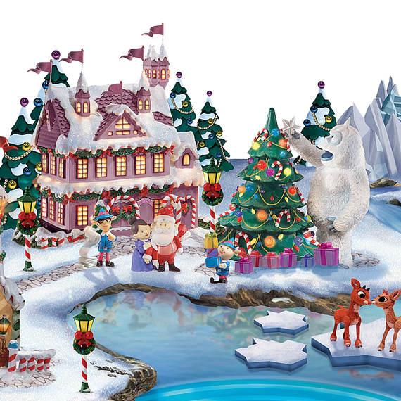 Rudolph Christmas Village.Rudolph The Red Nosed Reindeer Light Up Village Sculpture