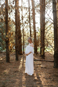 Fillyboo Wonder Years maternity gown in ivory
