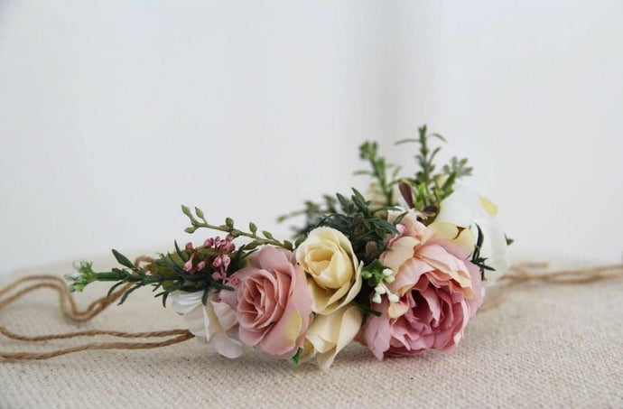Flower Crown - Pink, White and Cream