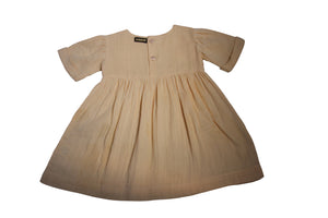 Bonjour cotton tunic/dress in apricot colour