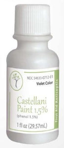 The Podiatree Castellani Paint First Aid Phenol 1.5% Modified Violet Color - 1 oz