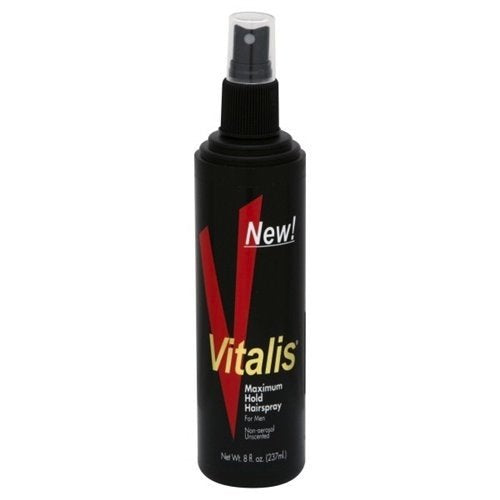 Vitalis Maximum Hold Hairspray for Men,Unscented  -  8 oz