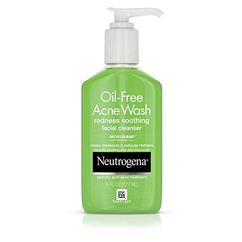 Neutrogena Oil - Free Acne Redness Soothing Facial Cleanser -  6 OZ